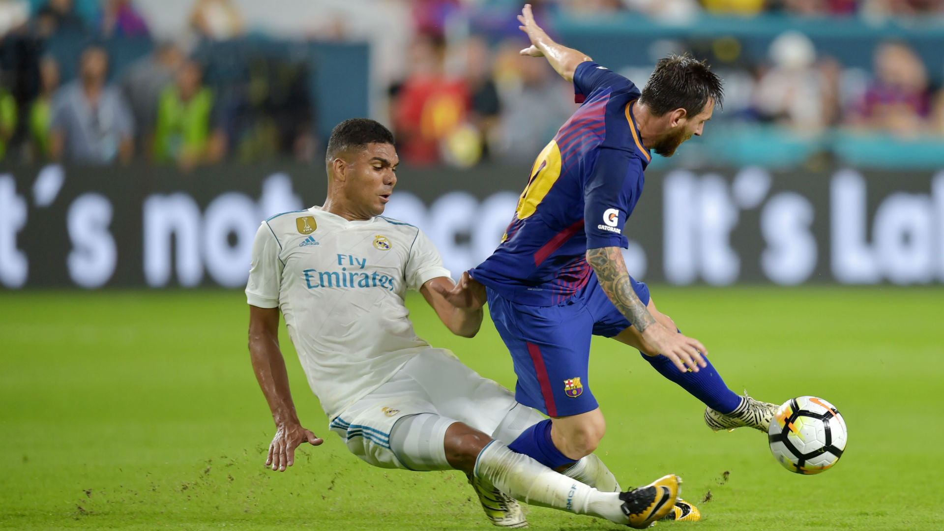 Lionel Messi Casemiro Real Madrid Barcelona ICC