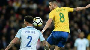 Renato Augusto Kyle Walker England Brazil Friendly 14112017
