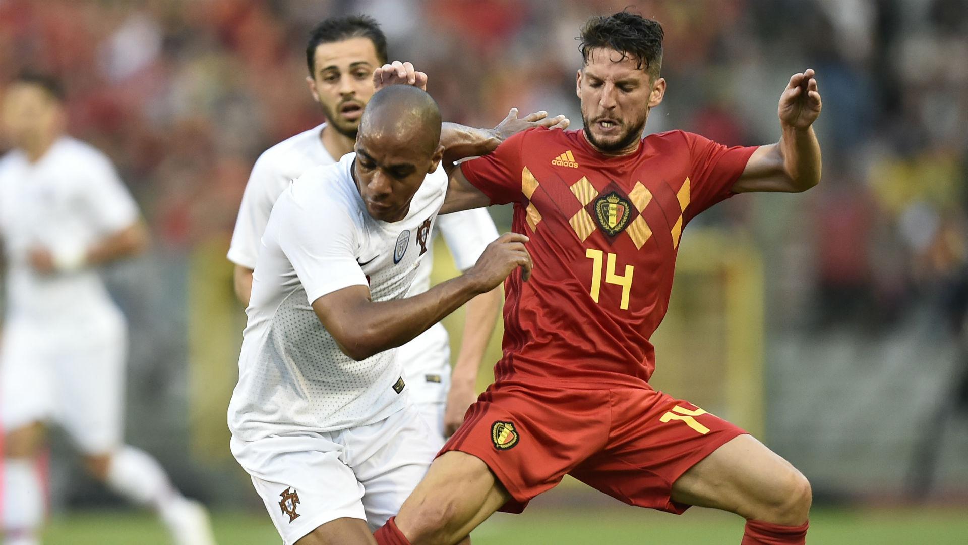 Dries Mertens Joao Mario Belgium Portugal international friendly 2018