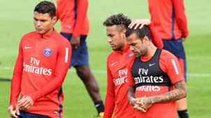 Thiago Silva Neymar Dani Alves PSG