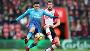 101217 Jack Stephens Alexis Sánchez Soton Arsenal