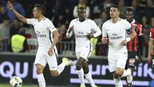 Thiago Silva Blaise Matuidi Nice PSG Ligue 1 30042017
