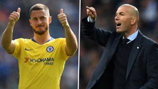 Eden Hazard Zinedine Zidane Chelsea Real Madrid