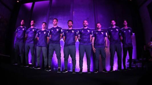 River Nueva Camiseta Alternativa Violeta 13092018