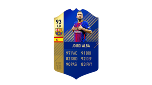 FIFA 18 Ultimate Team of the Season Jordi Alba