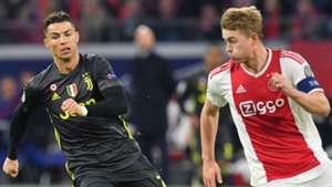 Cristiano Ronaldo Juventus Matthijs De Ligt Ajax