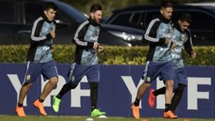 Acuña Messi Lanzini Pavon Argentina entrenamiento 23052018