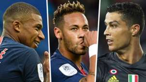 Kylian Mbappe Neymar Cristiano Ronaldo 2018-19