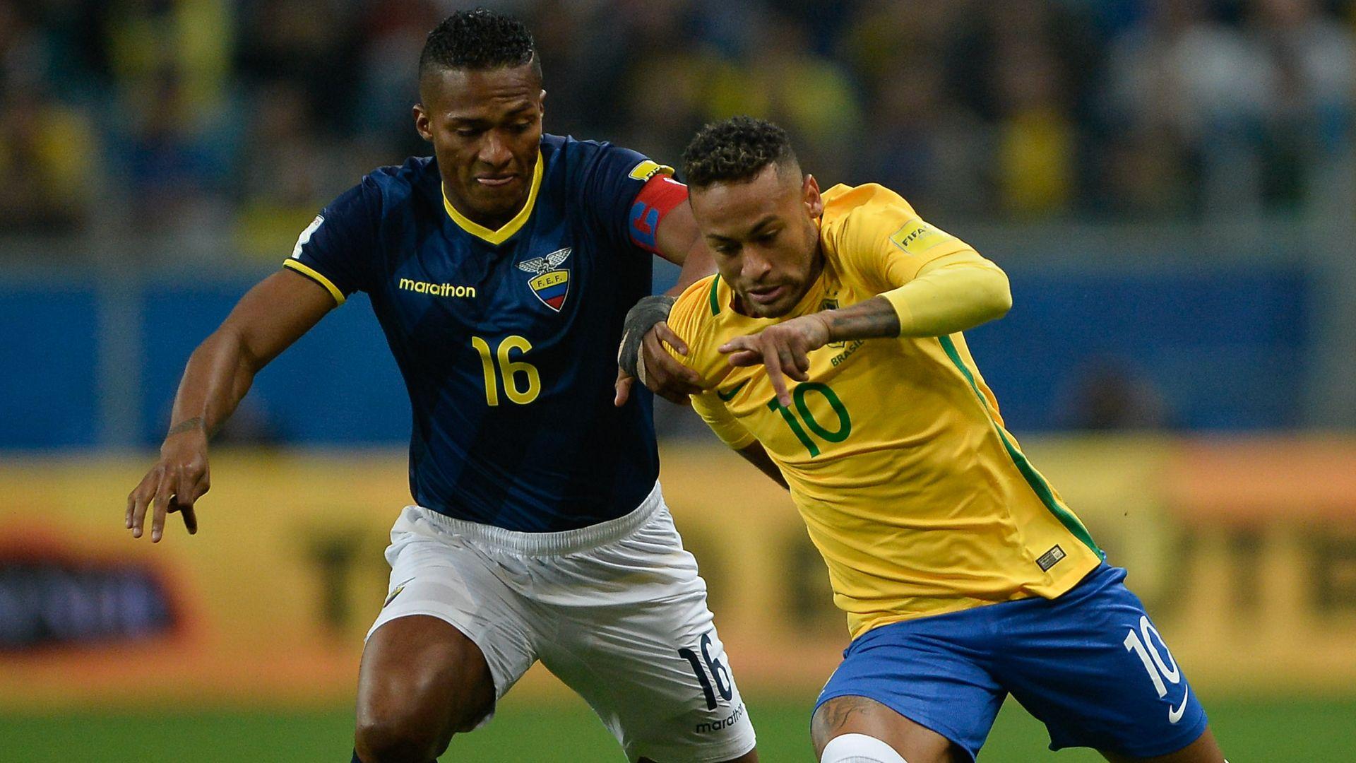 Neymar Antonio Valencia Brazil Ecuador Eliminatorias 2018 31082017