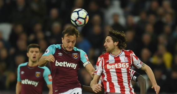 Mark Noble Joe Allen West Ham Stoke 16042018