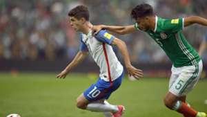 Christian Pulisic Diego Reyes Mexico USA