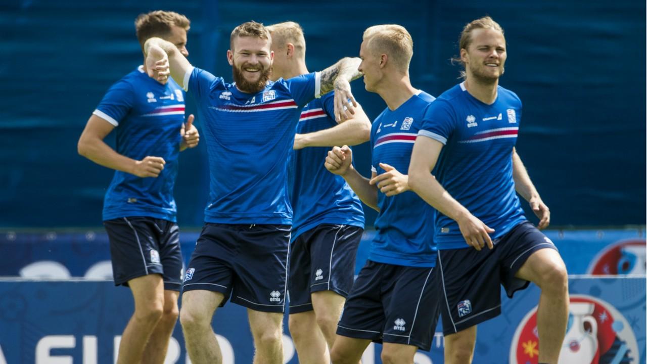 Iceland training Euro 2016