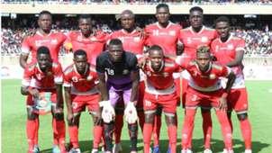 Kenya and Harambee Stars squad v Ethiopia.