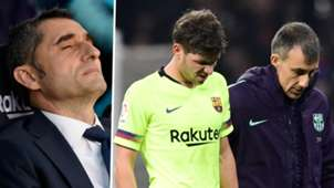 Ernesto Valverde Sergi Roberto Barcelona 2018