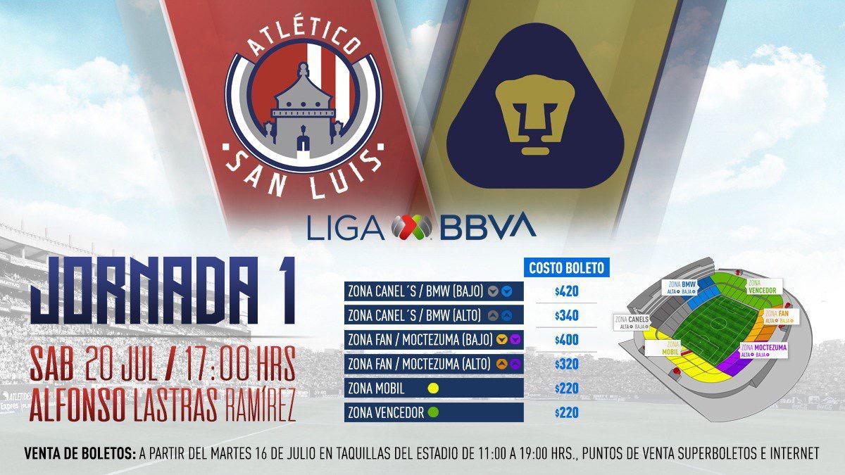 Boletos Atlético San Luis Pumas