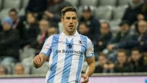 Milos Degenek 1860 Munich v Kaiserslautern 2 Bundesliga 21112016