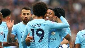 Leroy Sane, Gabriel Jesus, West Ham vs Man City, 17/18