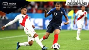 The Most Energized Player Prancis vs Peru Kylian Mbappe