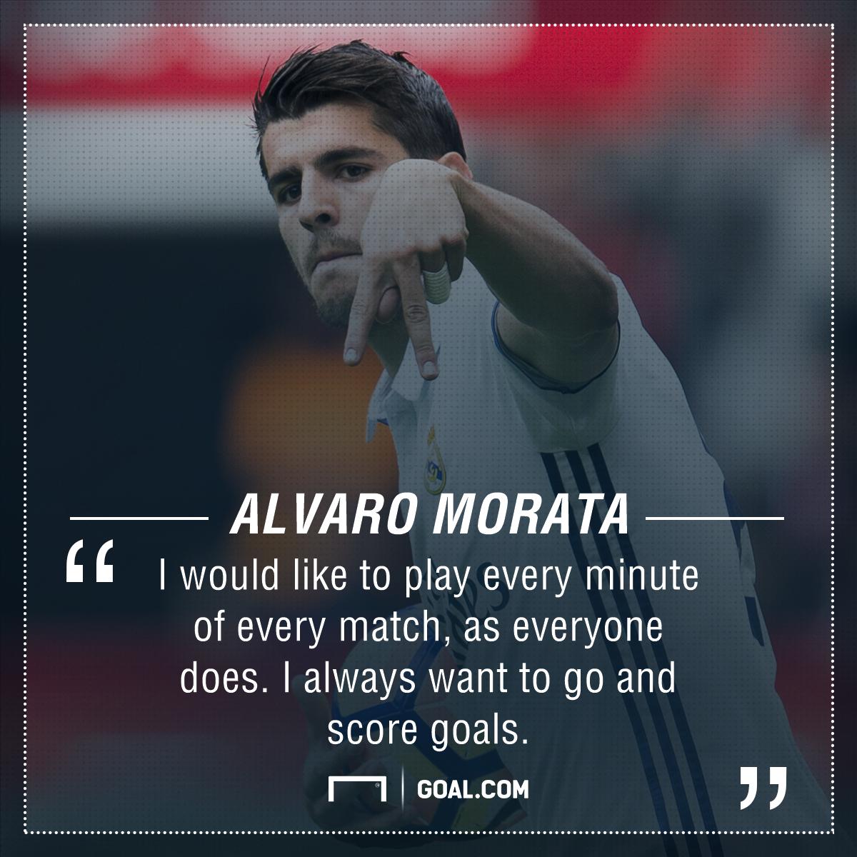 Alvaro Morata goals game time