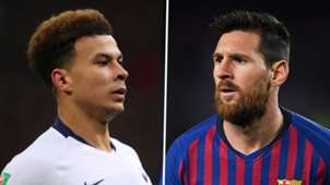 Dele Alli Lionel Messi Tottenham Barcelona