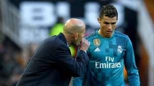 Cristiano Ronaldo Zinedine Zidane Real Madrid