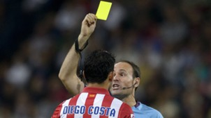 Diego Costa Yellow Card