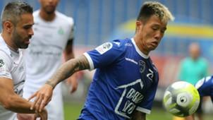 Hyunjun Suk Loic Perrin Troyes Saint-Etienne Ligue 1 01102017
