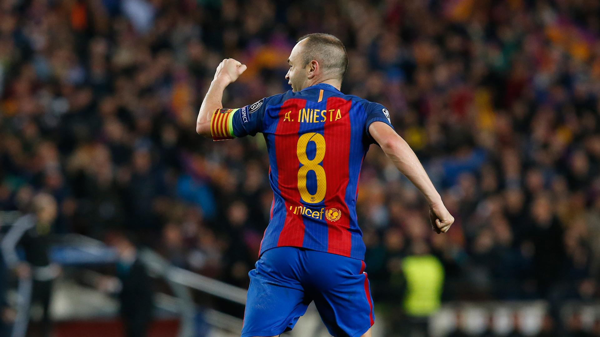 Andres Iniesta Barcelona PSG Champions League