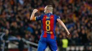 Andres Iniesta Barcelona PSG Champions League