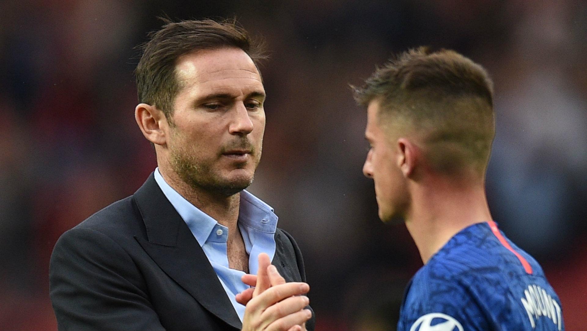 Frank Lampard Mason Mount Manchester United vs Chelsea 2019-20