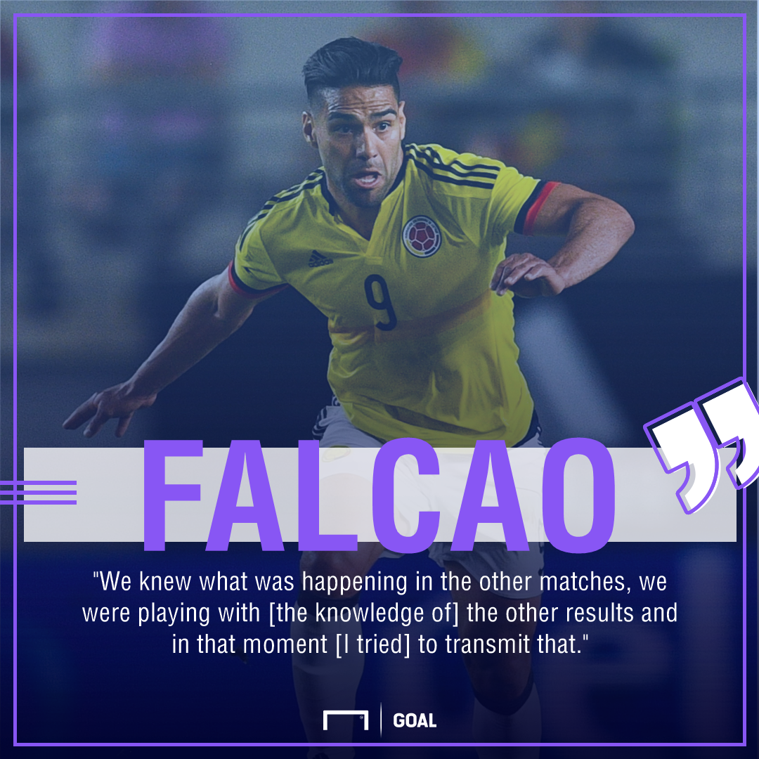 Radamel Falcao Colombia Peru play for draw