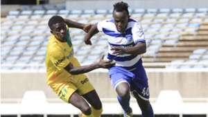 Victor Ashinga of Mathare United v Victor Majid of AFC Leopards.