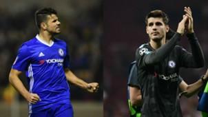 Diego Costa Alvaro Morata Chelsea
