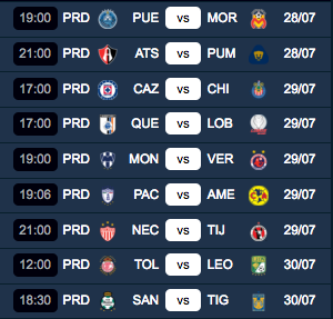 Jornada 2 Liga Mx