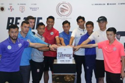 Press conference of Hkfa top footballer awards.