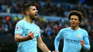 Sergio Aguero Leroy Sane Manchester City