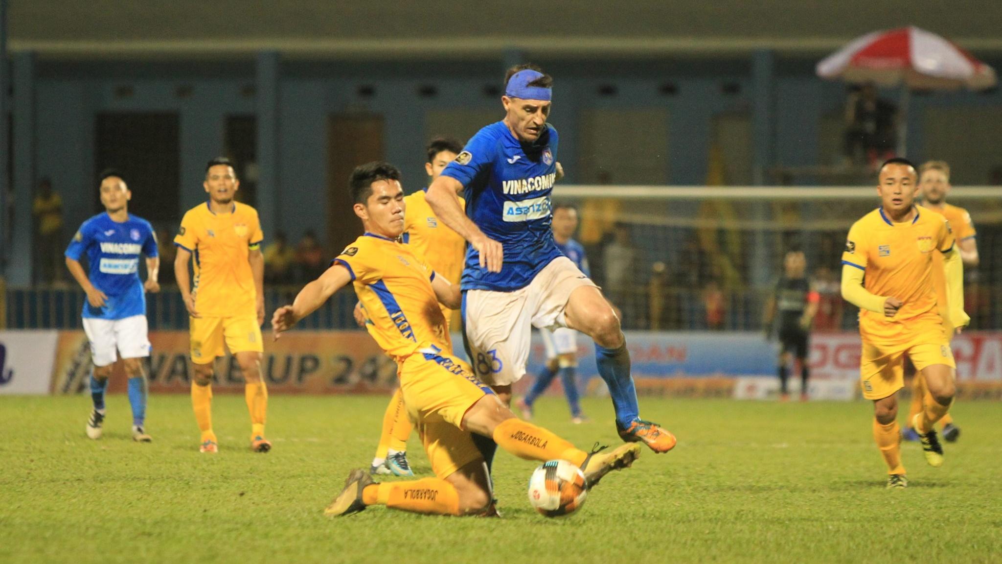 Rod Dyachenko vs Nguyen Huu Lam Than Quang Ninh Thanh Hoa V.League 2019