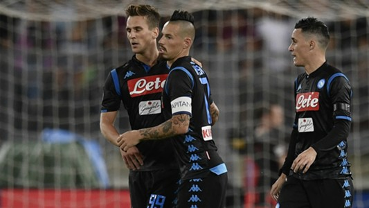 Arkadiusz Milik Marek Hamsik Jose Maria Callejon Lazio Napoli Serie A 08182018