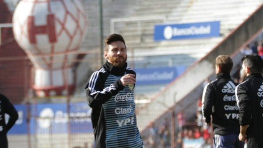 Messi Entrenamiento Argentina Huracan