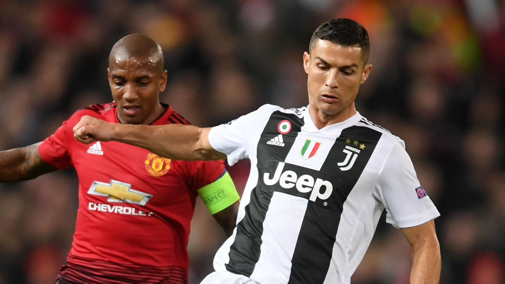 Cristiano Ronaldo Ashley Young Juventus Manchester United