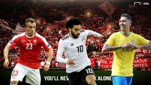 Xherdan Shaqiri Mohamed Salah Roberto Firmino Liverpool