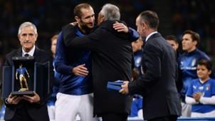 Giorgio Chiellini 100th presence Italy Portugal