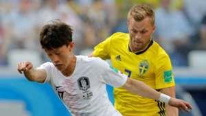 Jaesung Lee South Korea Sebastian Larsson Sweden 2018 World Cup