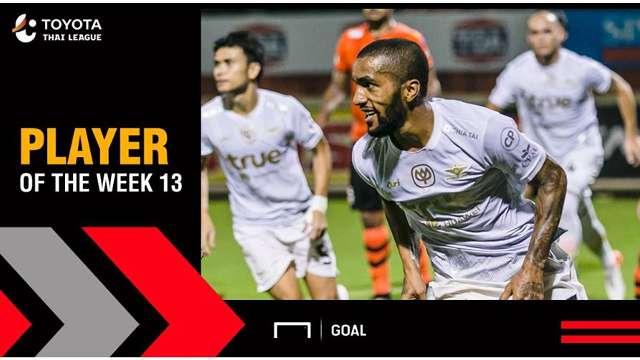 ผลการค้นหารูปภาพสำหรับ Toyota Thai League Player of the Week 13 : เอเวอร์ตัน กอนซัลเวส