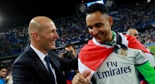 Zinadine Zidane Keylor Navas