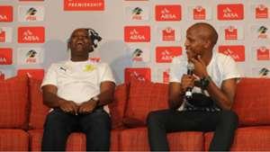 Pitso Mosimane and Lebogang Manyama