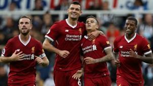 Liverpool celebrate Coutinho