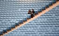 Saudi Arabia women in stadium