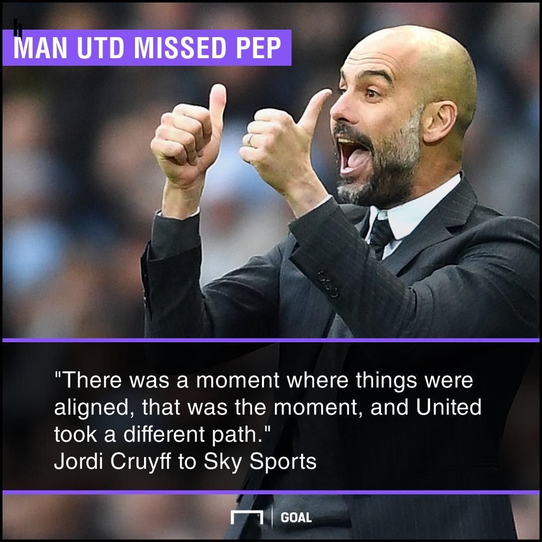 Man Utd missed out on Pep Guardiola Jordi Cruyff