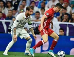 Sergio Ramos Robert Lewandowski Real Madrid Bayern Munich UCL 18042017